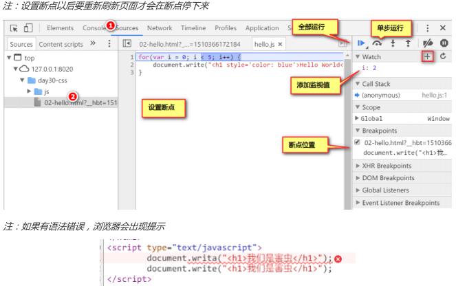 JavaScript编程基础:基础语法、调试、事件、内置对象