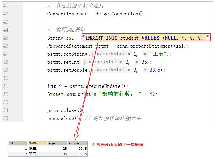 硬编码方式实现DRUID连接池