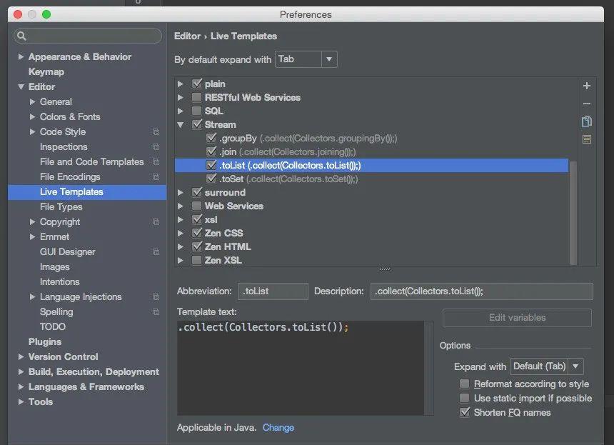使用 IDEA 解决Java8 的数据流问题,极大提升生产力!!