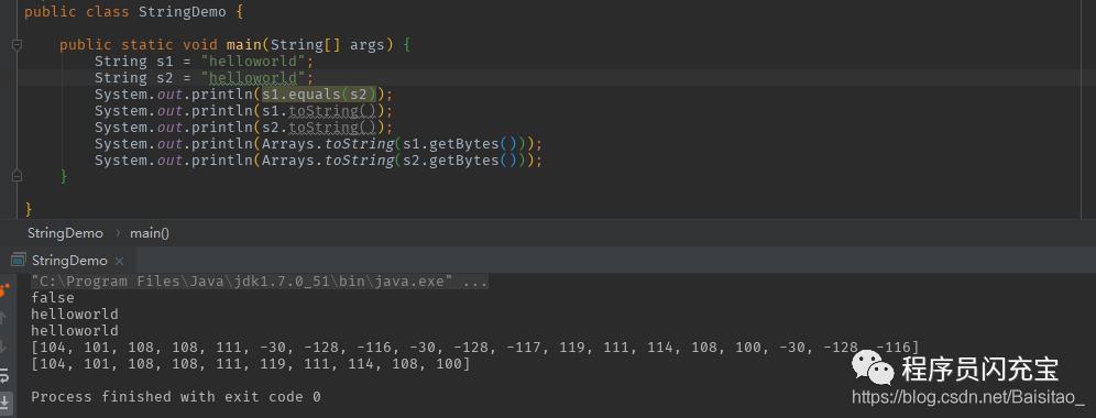 相同字符串,但是equals为false?我多年的java白学了吗?